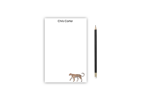 Personalized Notepad LEOPARD