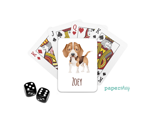 Personalized Poker Cards-Beagle