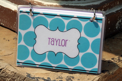 Index Card Binder--Personalized