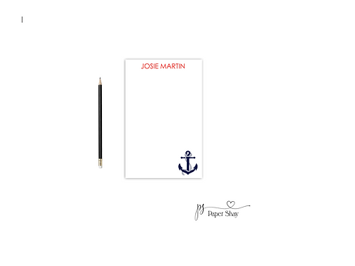 Personalized Notepad  ANCHOR