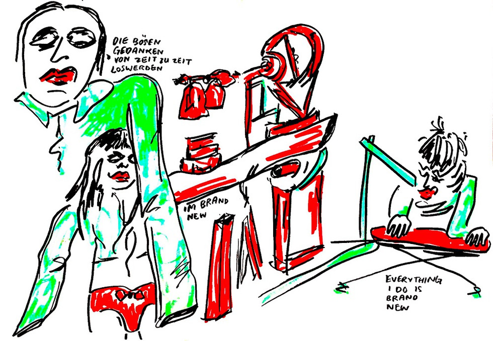 PEER GYNT SCHAUBÜHNE LARS EIDINGER ILLUSTRATION LIVE DRAWING CHARLIE CASANOVA
