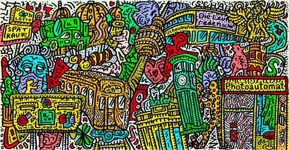 Berlin Panorama Illustration Charlie Casanova