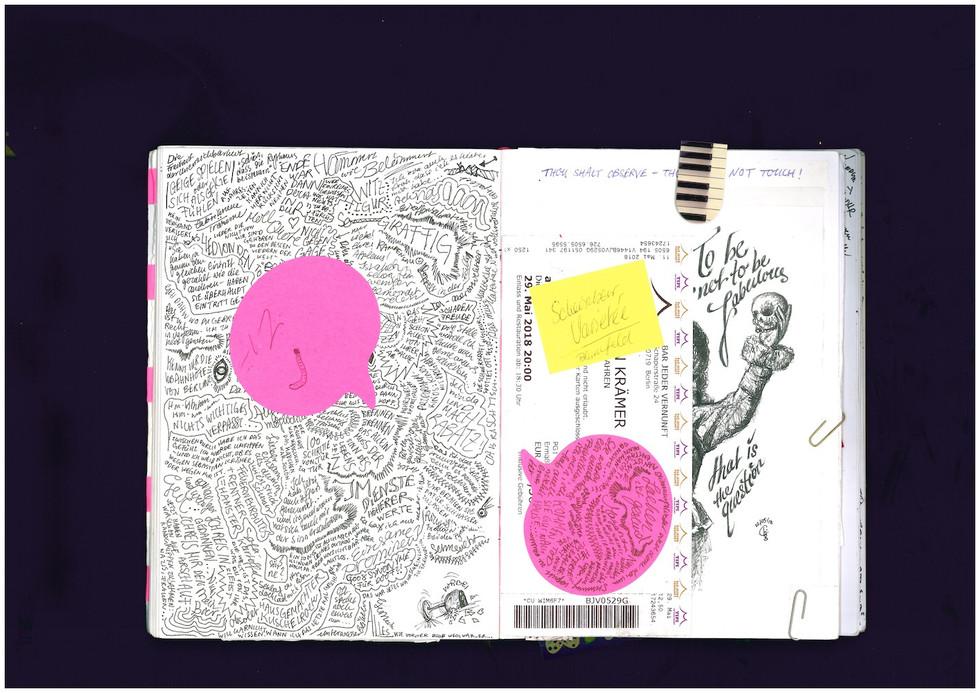 GORKI NOTIZBUCH THEATER KUNST THEATRE NOTEBOOK ART JOURNAL OPUS 1 CHARLIE CASANOVA
