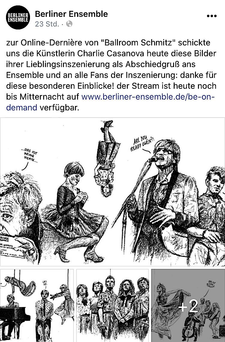 BALLROOM SCHMITZ BERLIENER ENSEMBLE CLEMENS SIENKNECHT BARBARA BURKHARDT LEPORELLO ILLUSTRATION CHARLIE CASANOVA