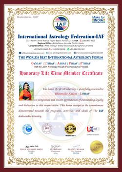 The world best Astrology Forum Award - Bhoomika Kalam