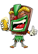 An image of the iconic Tiki Jon! He enjoys beer, cocktails, and good times!