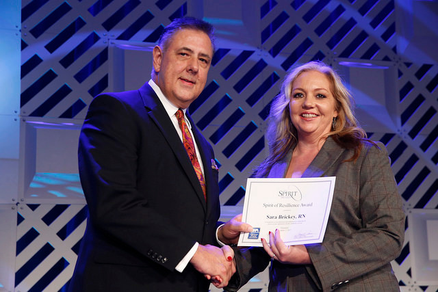 Sara Brickey, RN honored at annual OHA Convention