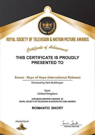 Susan - Rays of Hope (International Release)_ROMANTIC SHORT.jpg