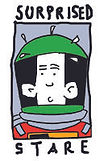 SSG logo as spaceman for Lux Aeterna Game