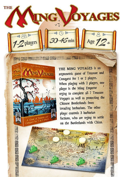 The Ming Voyages game information and description from Kickstarter campaign