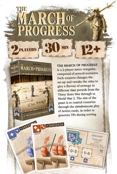 The March of Progress - game information and description from Kickstarter campaign