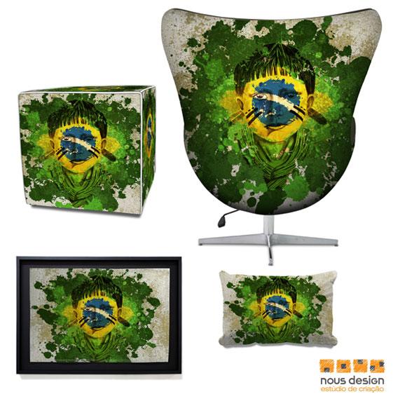 Estampa para Produtos - Indio Brasil