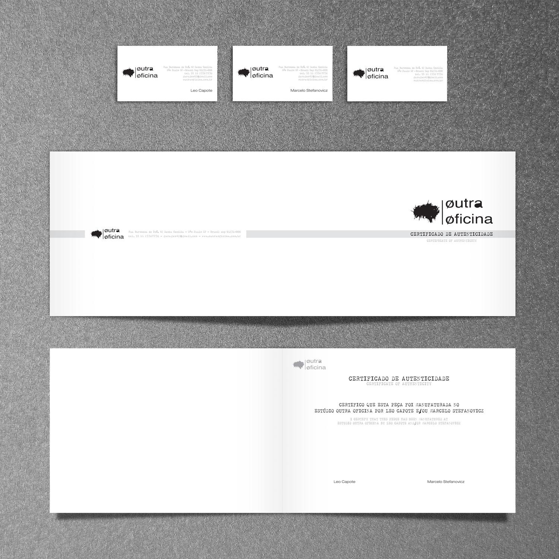 Cartões e Certificado Outra Oficina