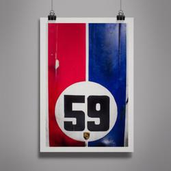 Poster Porsche Vintage LeMans