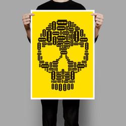 Poster Caveira Gilette