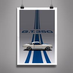 Poster Mustang GT 350
