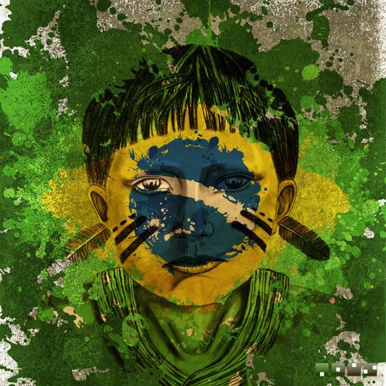 Criação de Estampa - Indio Brasil