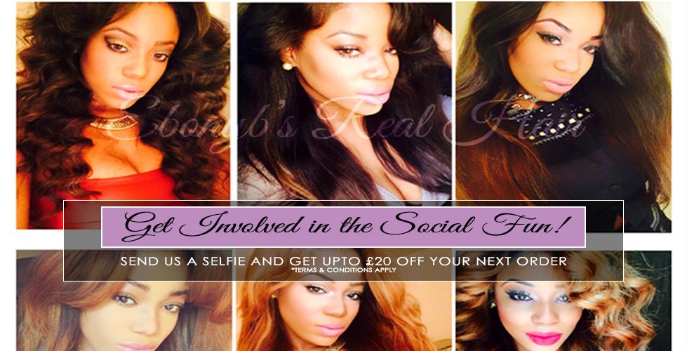 Selfie share, get discount