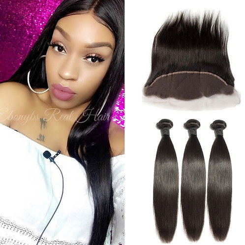 Straight Bundles with a Lace Frontal