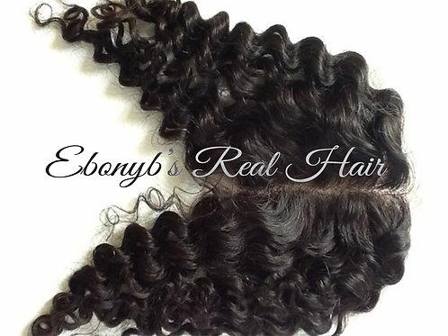 Curly Virgin Brazilian Lace Top Closure