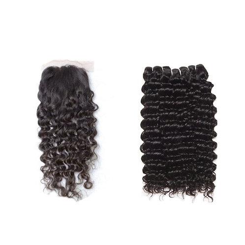 Curly Bundles + Lace Closure