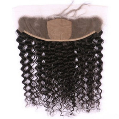 Curly Lace Frontal (Pre-plucked)