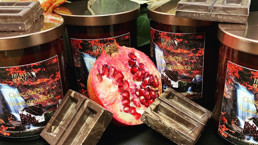 Chocolate + Pomegranate Candle - 8.5 oz