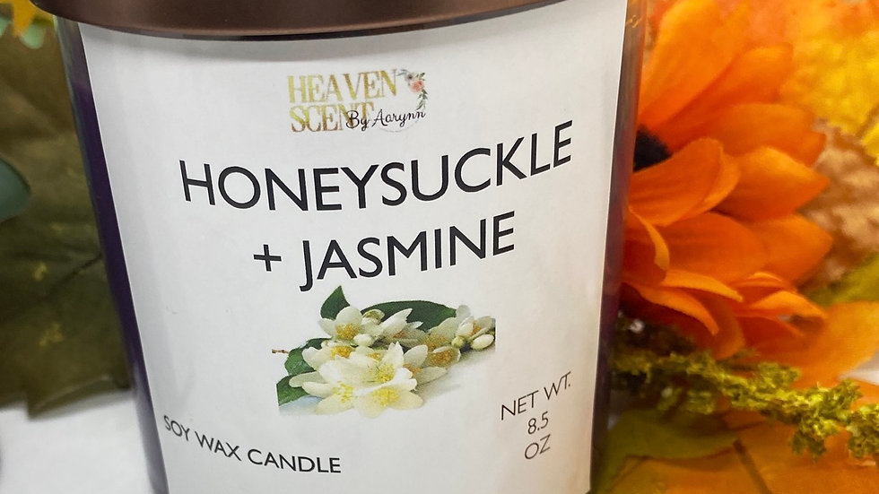 Honeysuckle + Jasmine - 8.5 OZ CANDLE