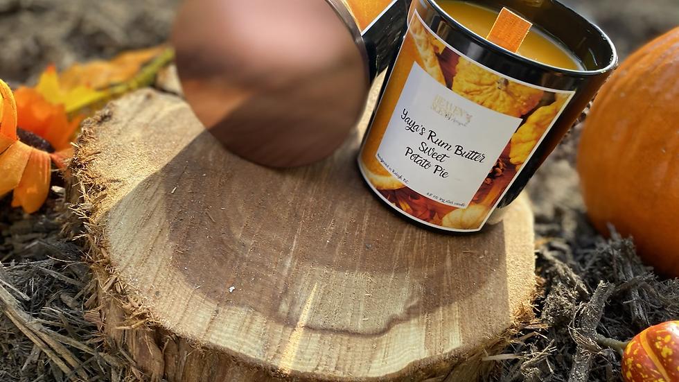 Yaya's RB Sweet Potato Pie - 8.5 oz soy wax candle