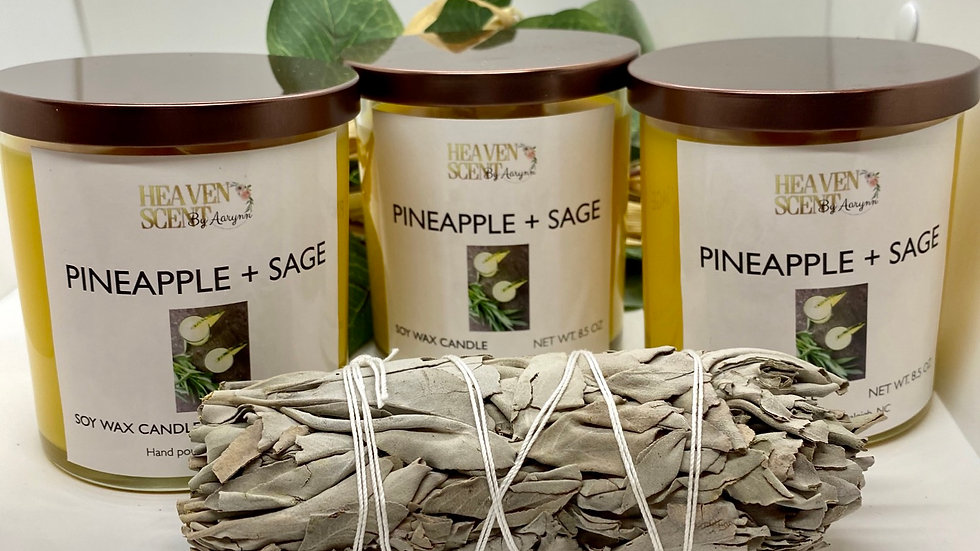 Pineapple + Sage Candle - 8.5 oz