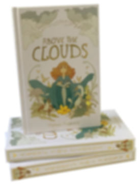 Image contains photo of a pile of Above the Clouds books