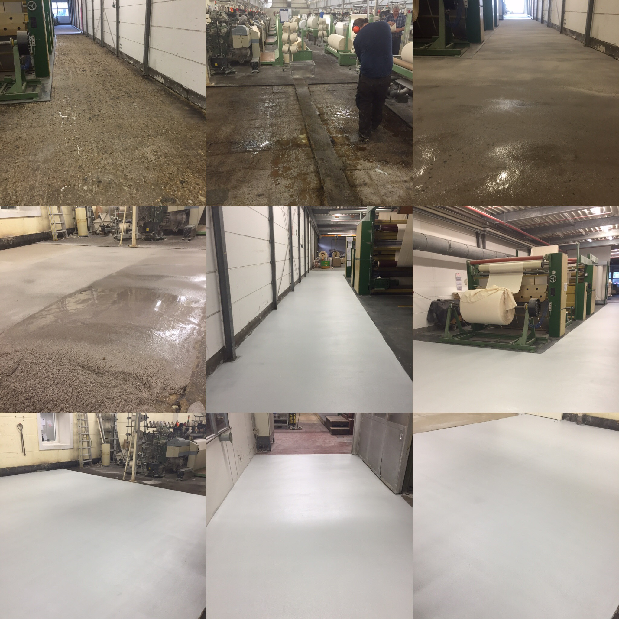 Plastifloor in textile industry