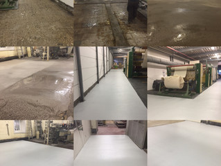 Plastifloor resins can be used to reconstruct old asphalt floors in the textile industry.