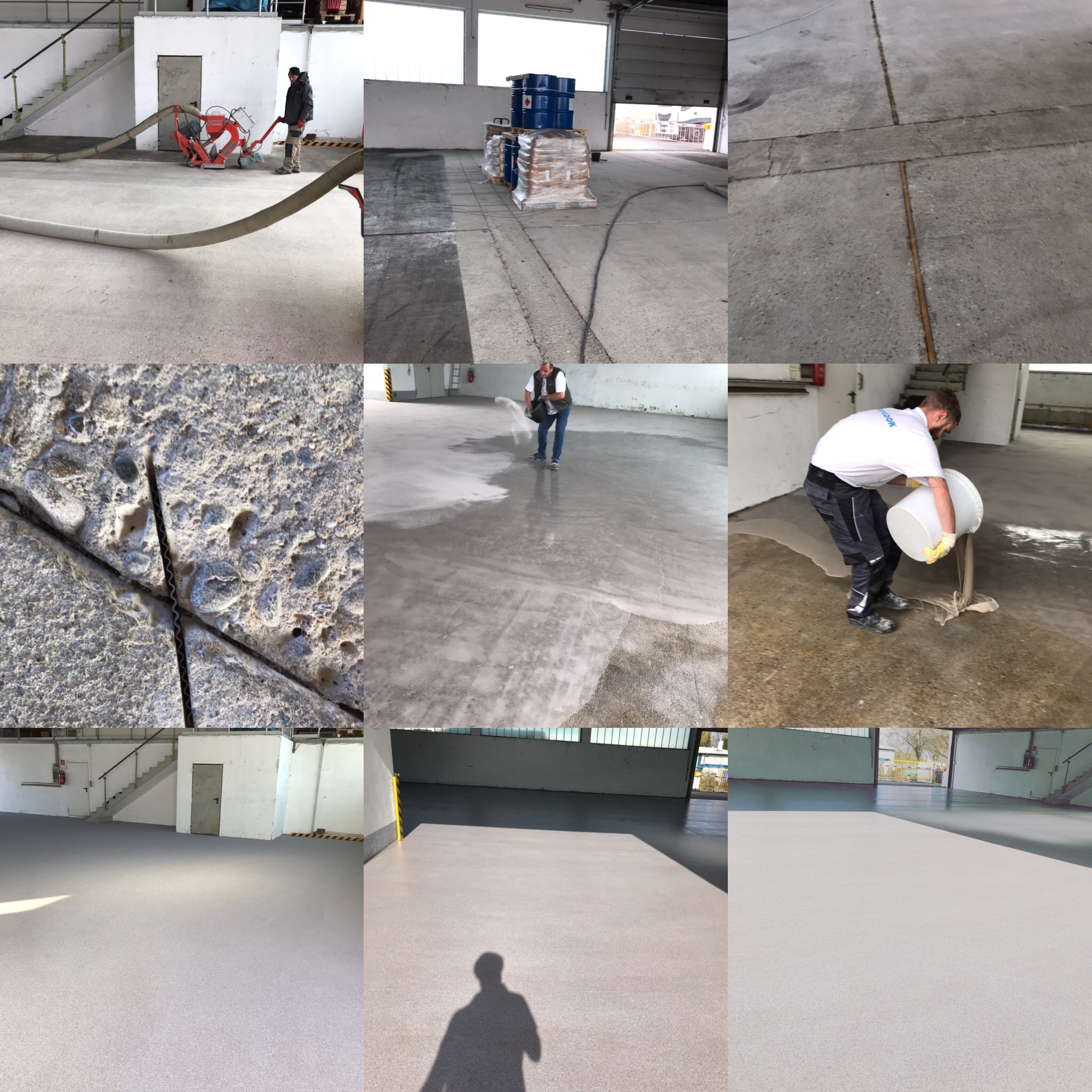 Plastifloor for warehouses