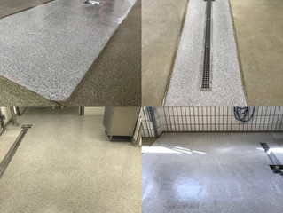 Even for small repairs the fast curing Plastifloor resins are easy to use. Each layer is curing with