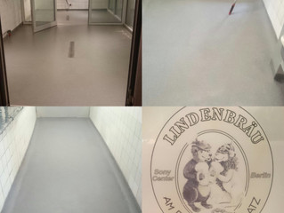 Plastifloor fast curing acrylic resins are used for the repair of cracked floors and old tiled floor