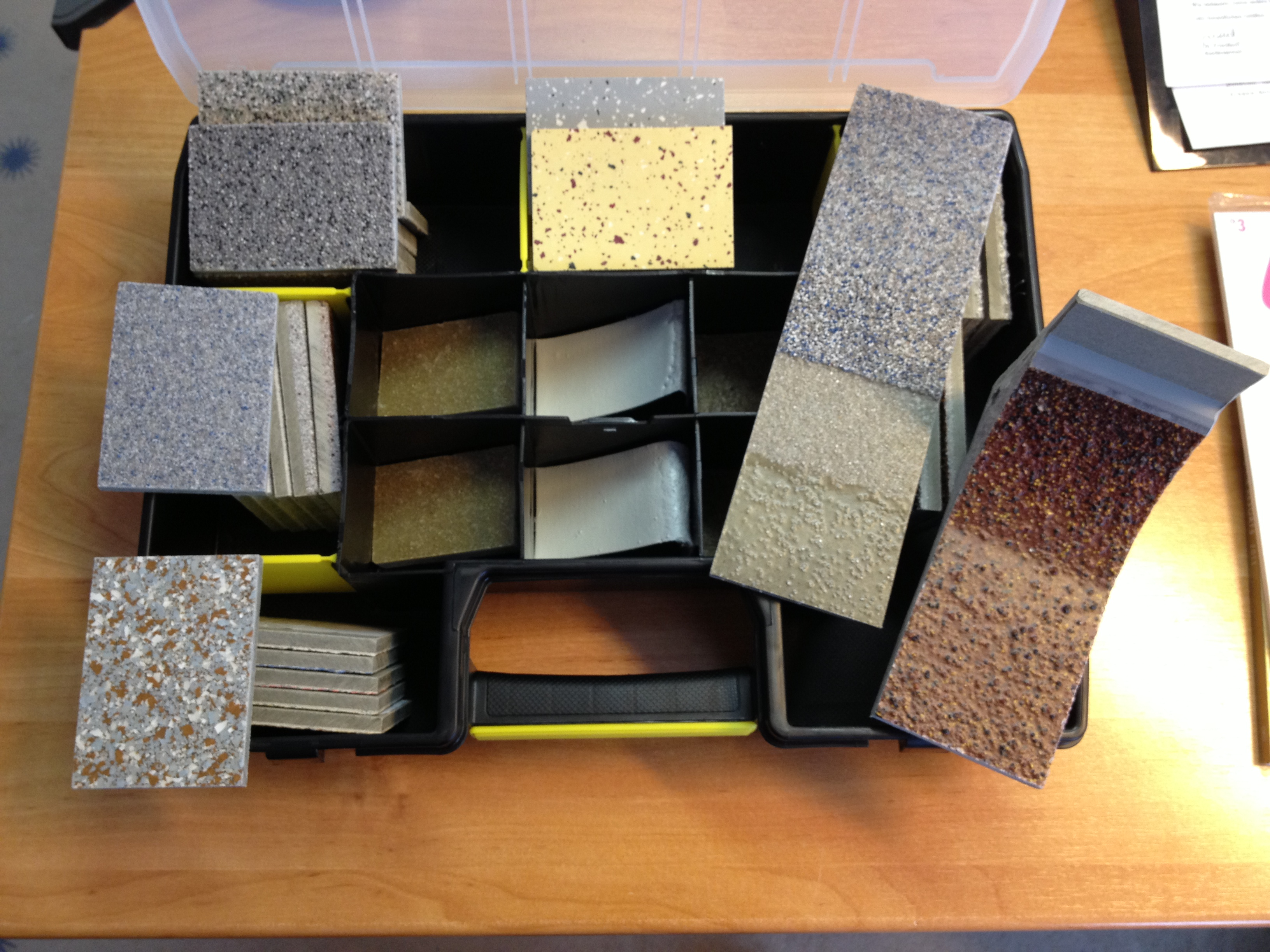 Plastifloor product samples
