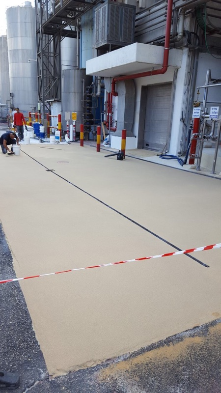 Plastifloor in a dairy