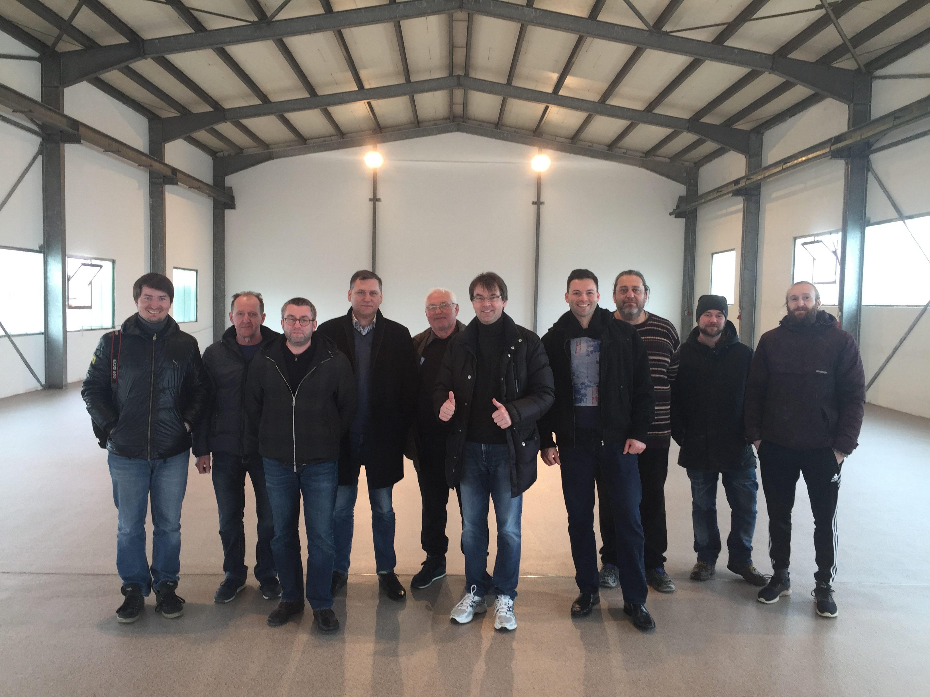 Plastifloor installation team