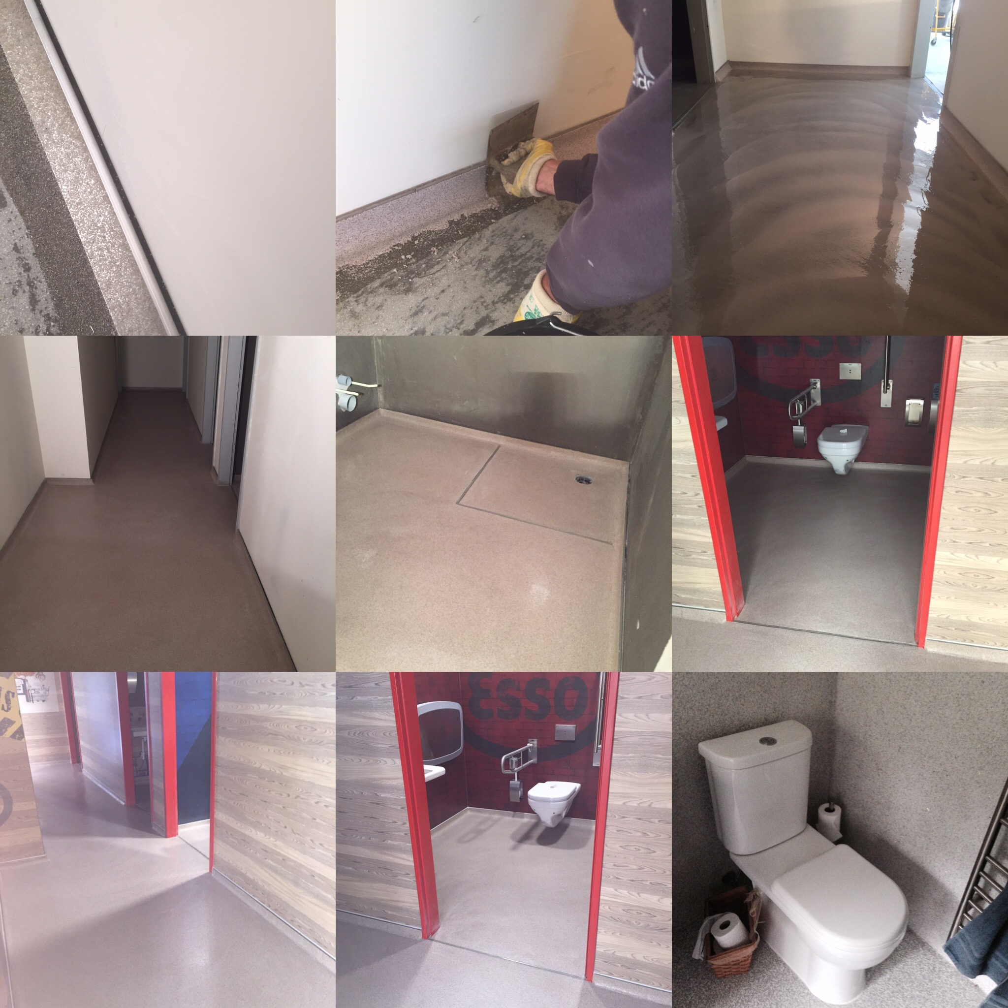 Plastifloor for restrooms