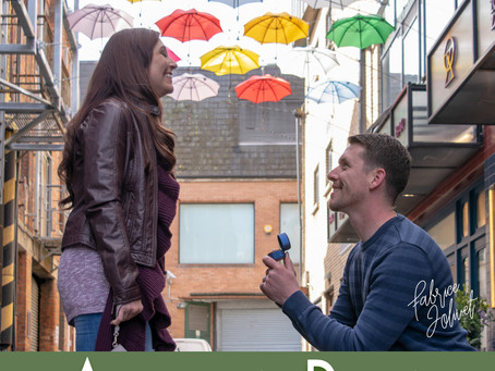 Surprise proposal With Dustin and April in Dublin