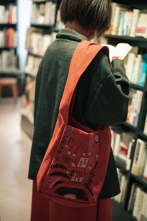 『モモ』シルクスクリーンバッグ