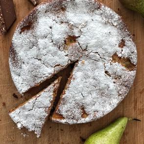 Recipe - Toblerone chocolate & pear cake