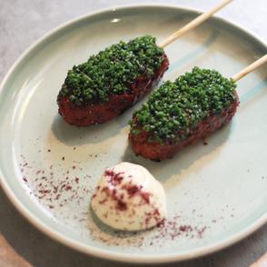Spiced Lamb kofta with almond aioli