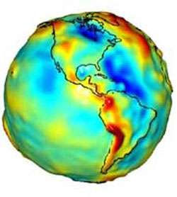 Aomalies gravitationnelles Amerique du N