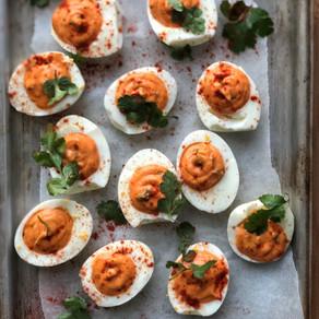 Recipe - Sriracha devilled eggs