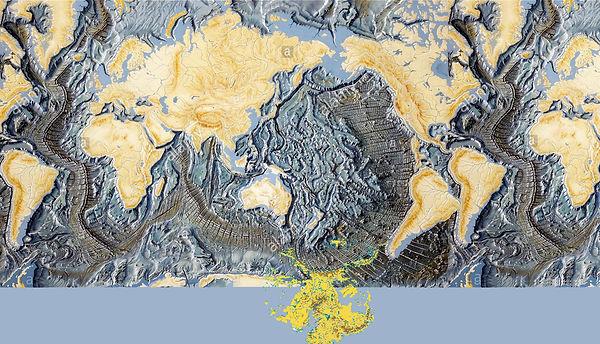 Cratere geant Pacifique avec les Ameriqu