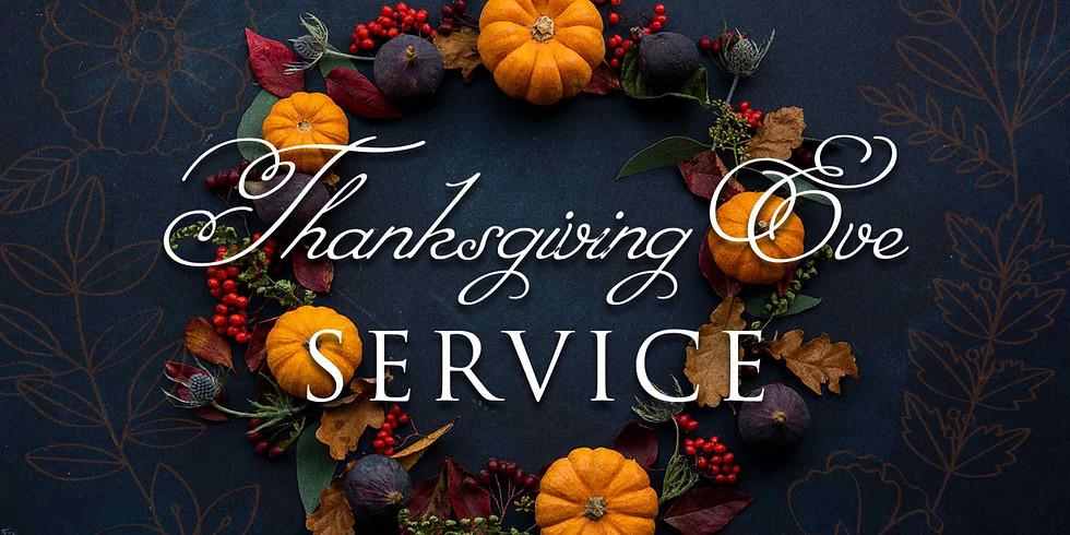Nov 25th 6pm Thanksgiving Eve Service at St. Luke's Episcopal Church, Lincolnton NC