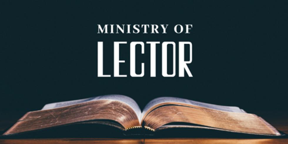 June 13th 9:00am Lector/Reader Training