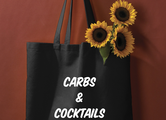 Carbs and Cocktails Tote